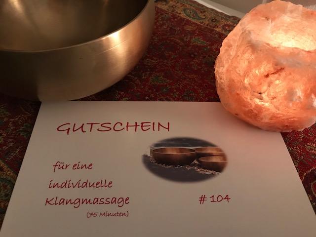 Klang-GeschenkGutschein